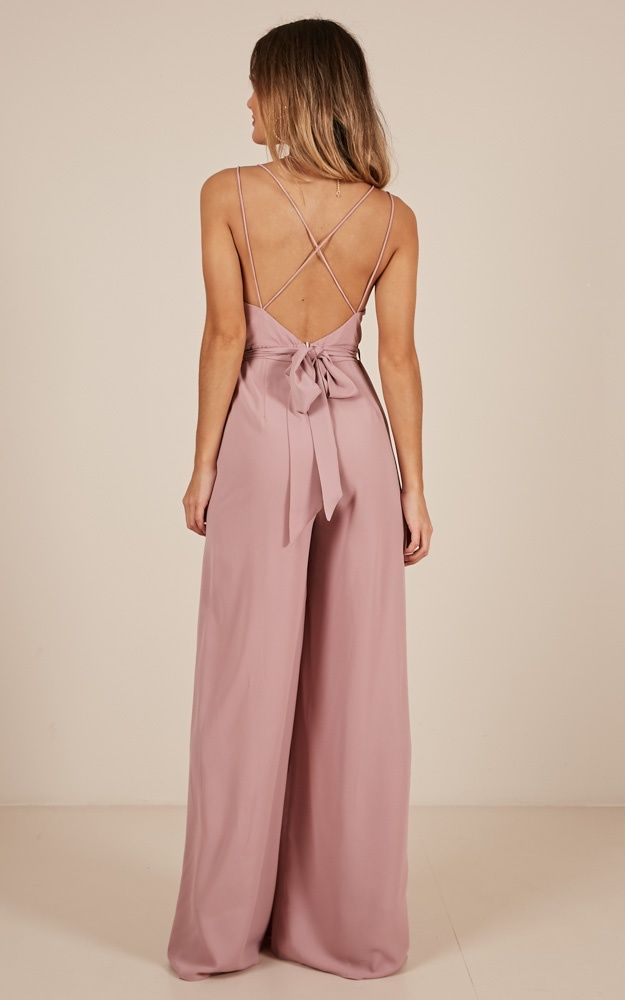 The Way I Am Jumpsuit In Blush Showpo Jumpsuit Elegant Jumpsuit Dressy Fashion