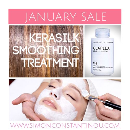 A NEW YEAR, A NEW YOU: JANUARY SALE! ✨  After all the stress and strain of Christmas and the bracing Winter weather, travel into 2017 with a bit of self-care. Rejuvenate your skin & hair with our fantastic January sale offers...  * 25% off Facials, Peels & Masks * 25% off Pedicures * 25% off Olaplex Hair Treatment  * 25% off Kerasilk Smoothing Hair Treatment (lasts up to 5 months & includes homecare worth £35) * £20 off selective ghds  T&Cs apply