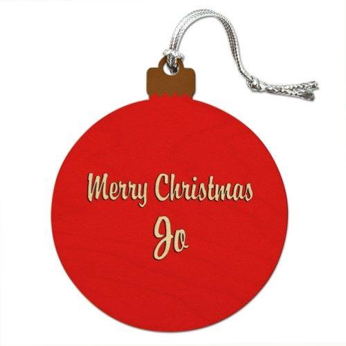 Merry Christmas Jo Wood Christmas Ornament