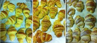 By Mónica - Receitas: Receita de Croissants simples ou recheados