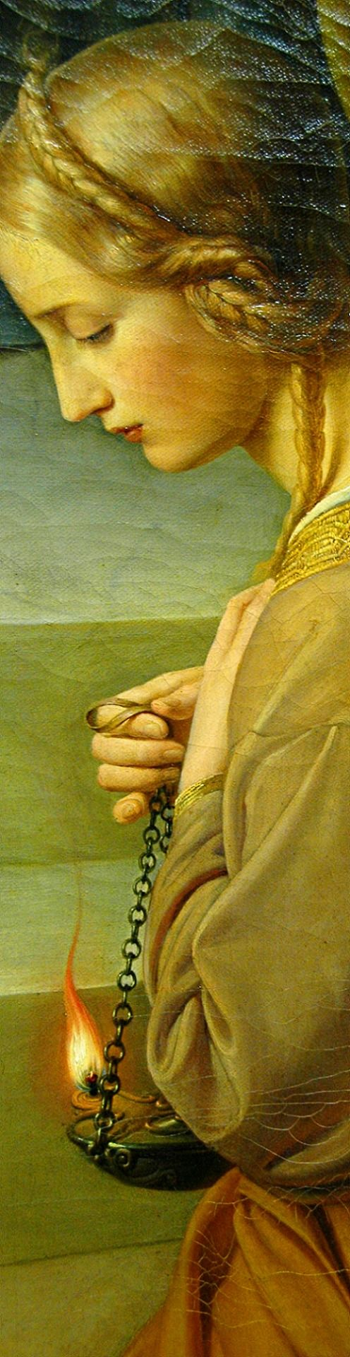The Parable of the Wise and Foolish Virgins (detail) 1838-42 Friedrich Wilhelm Schadow