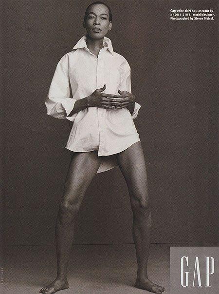 Naomi Sims for Gap white shirt ad