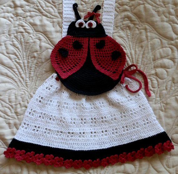 Baby Girl Crochet Pinafore Dress Topper Pattern by SugarToeBabies, $4.00