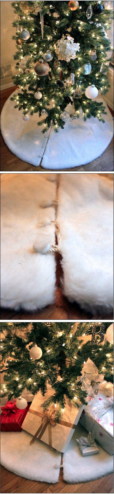 DIY faux fur tree skirt