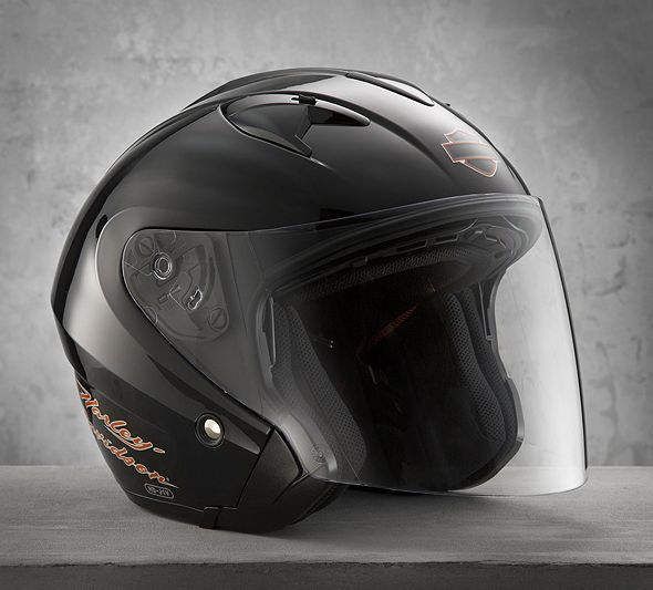 Womens 34 Helmet With Shield  Open Face   Official -8490