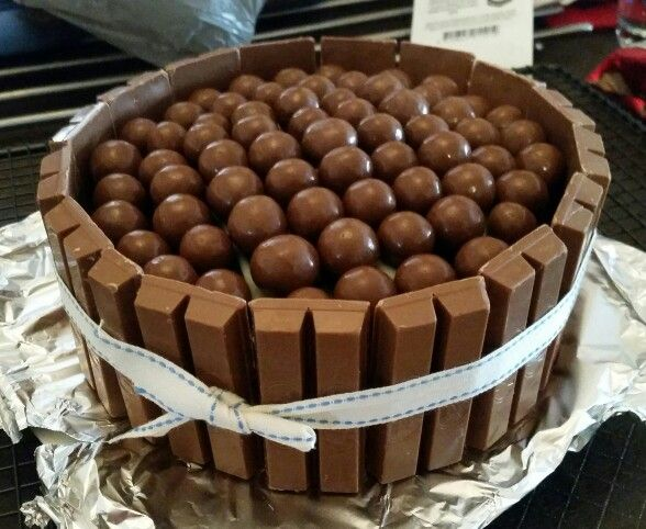Chocolate cake, kit kats and malteasers!