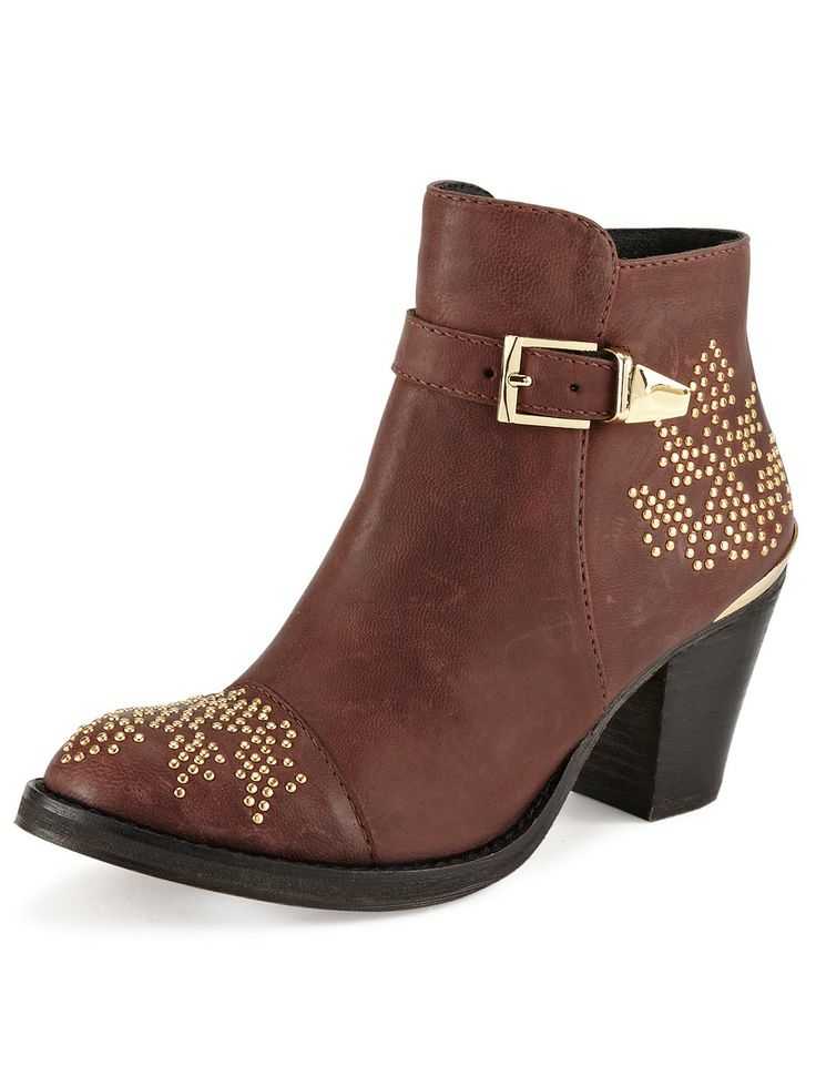 Moda In Pelle Coraline Metal Detail Ankle Boots | very.co.uk
