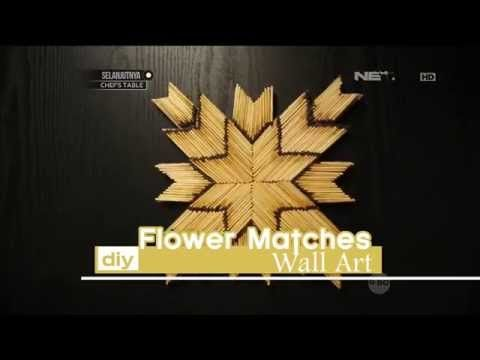 DIY: Flower Matches Wall Art - dSIGN - YouTube
