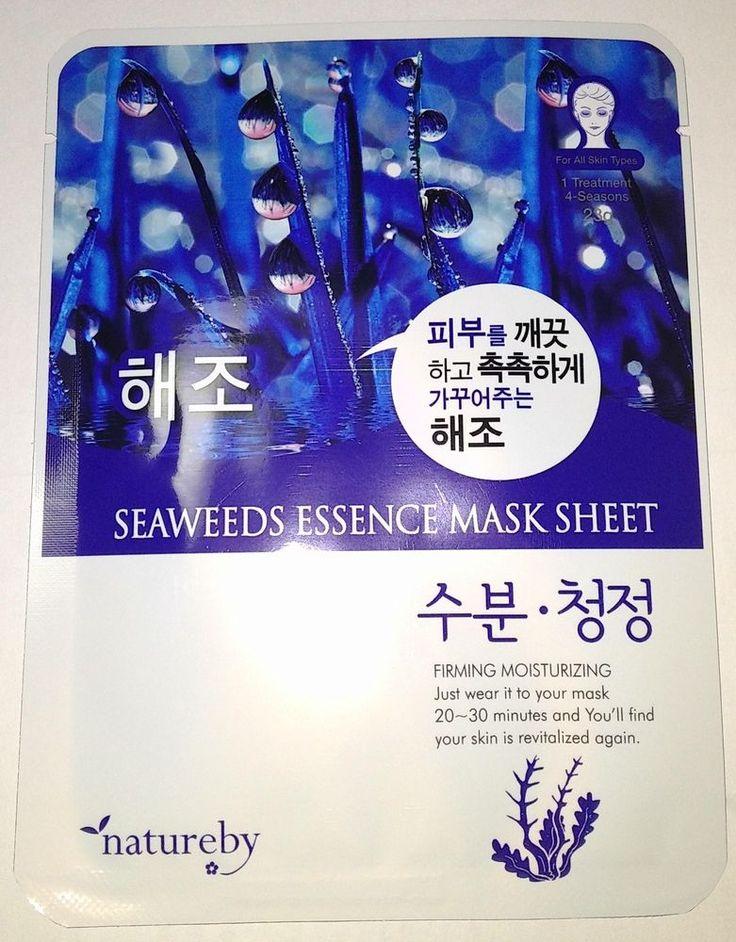 Natureby Seaweeds Essence Mask Sheet Pack K-Beauty 1pcs #Natureby