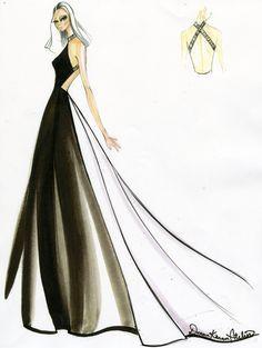 donna karan fashion sketches | fashion sketches