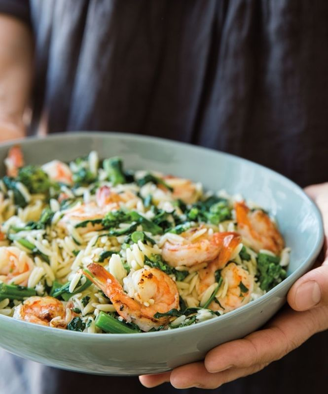Orzo with Shrimp and Broccolini | A quick and easy one-pot pasta dish.
