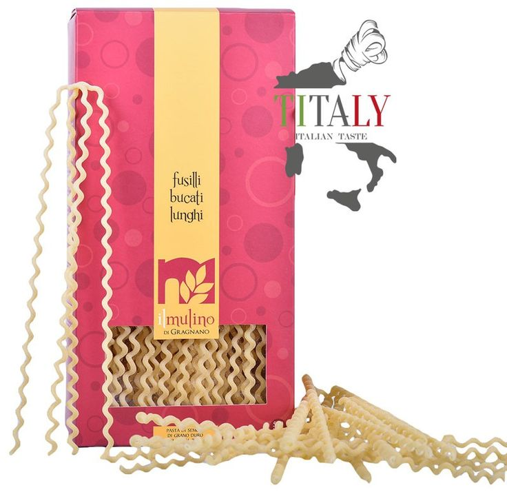 "FUSILLI BUCATI LUNGHI GRAGNANO PASTA PGI 500gr - IL MULINO DI GRAGNANO  The shape of Bucuti Fusilli Lunghi Gragnano PGI owes its name to the ""cast"" used by the spinners: anciently fact fusilli were produced by twisting a piece of spaghetti around a knitting needle. This format, which we propose to bronze, is excellent with Neapolitan sauce or pesto genovese sauce.  Pasta extruded through bronze"