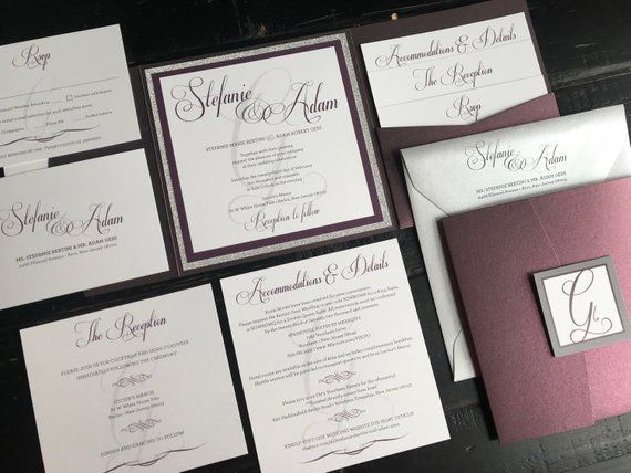 Pocket Wedding Invitation Suite