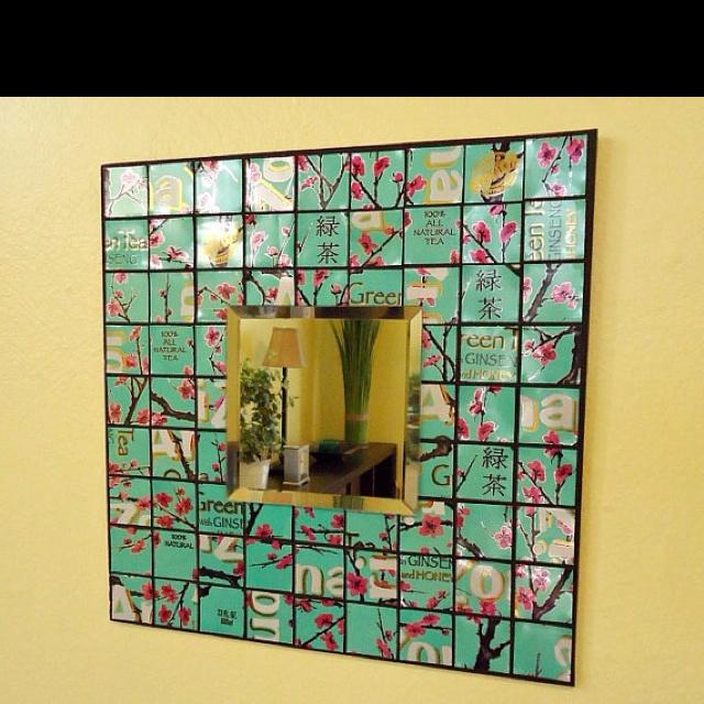 Arizona tea mirror I would make if I had all the cans