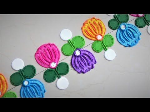 Free Hand Flower Rangoli Designs| Creative Rangoli Designs by Shital Mahajan. - YouTube