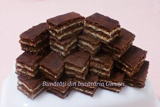 Prajitura cu foi de cacao si crema de cocos (de post) - Bunătăți din bucătăria Gicuței
