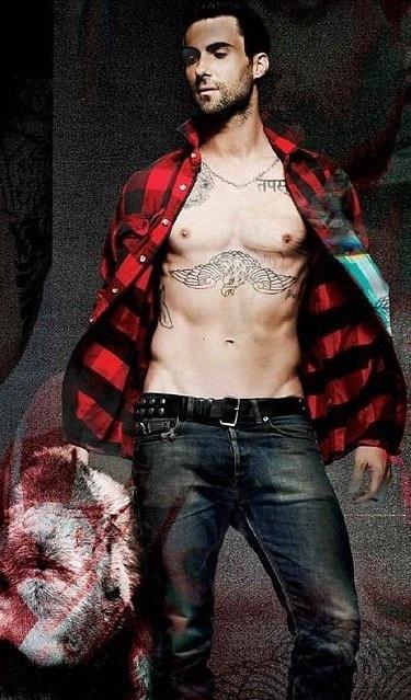 O vocalista da banda Maroon 5 Adam Levine exibe seu belo corpo na capa e em um ensaio fotográfico da revista 7 Hollywood. Nas imagens, a barriguinha sarada e as estilosas tatuagens do músico de 33 anos roubam a cena...
