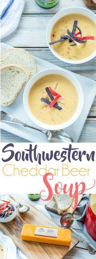 Southwestern Cheddar Beer Soup   FaithFoodFamilyFun.com