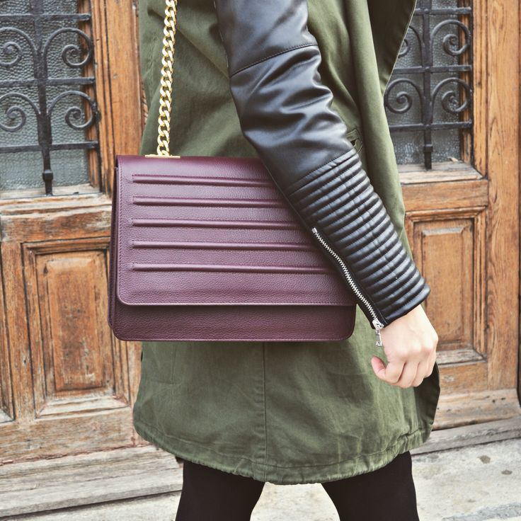 #fallwinter #fiveElements #the5thelementbags #rosettishowroom #leather #plum #texture