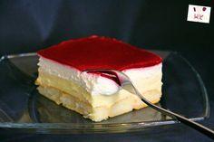 Kuchen ohne Backen - Himbeer-Puddingcreme Schnitten / Kolač bez pečenja - Kremaste kocke sa preljevom od malina