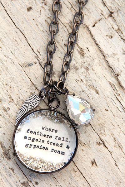"""Zigeuner"" große Charm Halskette"