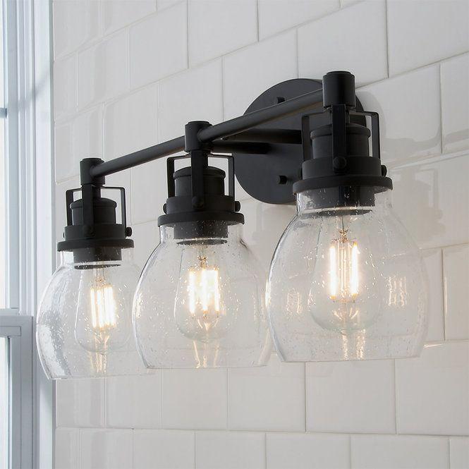 Soft Seeded Vanity Light 3 Light With Images Bathroom Light