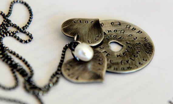 Friendship Necklace Girlfriend Gift Best by SevenBlueberries