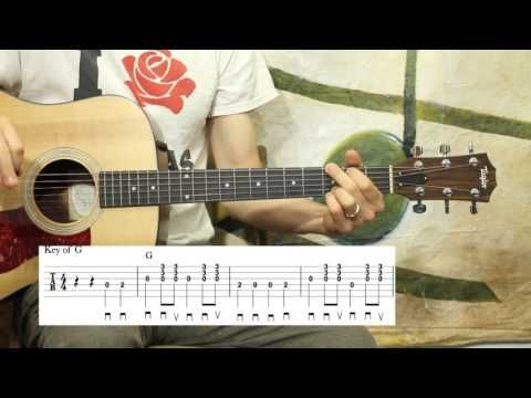 She'll be Coming Around the Mountain - Beginner Guitar Lesson - YouTube