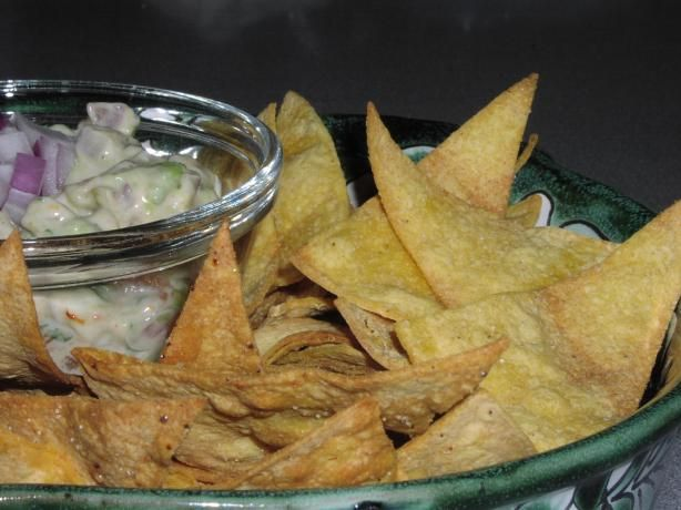 Homemade Baked Tortilla Chips. Photo by TeresaS