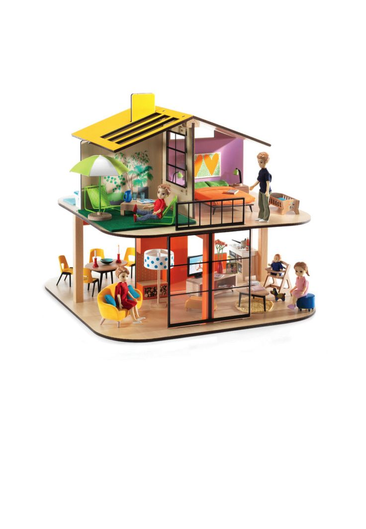 Djeco Cubic House, Family & Furniture Bundle — Annigollie Award Winning Toys