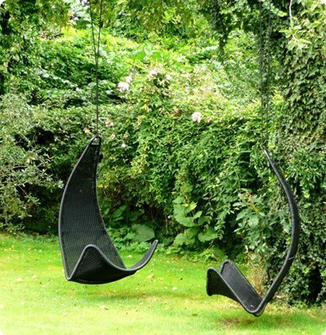 If I had my way, I would spend most of my summer napping in a hammock in dappled shade. In a second fantasy world where my pockets were deeper, I'd spring for this amazing woven hanging chair to have similar leisure time.