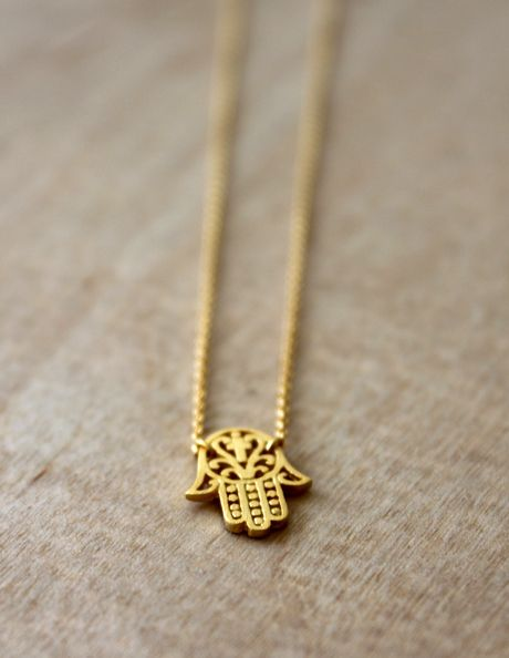 "The symbolism of the hamsa is deeply rooted in the middle eastern lore. For centuries, people have considered it to be an amulet that wards off evil and attracts prosperity. Wear your necklace as a daily reminder of the goodness, endurance, fertility, luck and good health your necklace brings.  Hamsa charm measures w=0.50"" x h=0.60"" and chain is adjustable from 16"