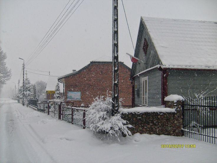 Izba zimą - Izba Historyczna Stefan Siek