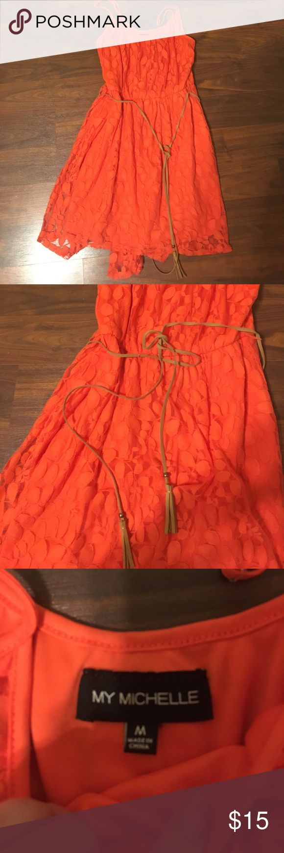 Midi Dress Orange mini dress! EUC! Dresses Mini