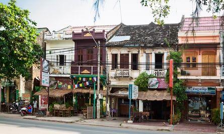 Kampot street scene. Cambodia