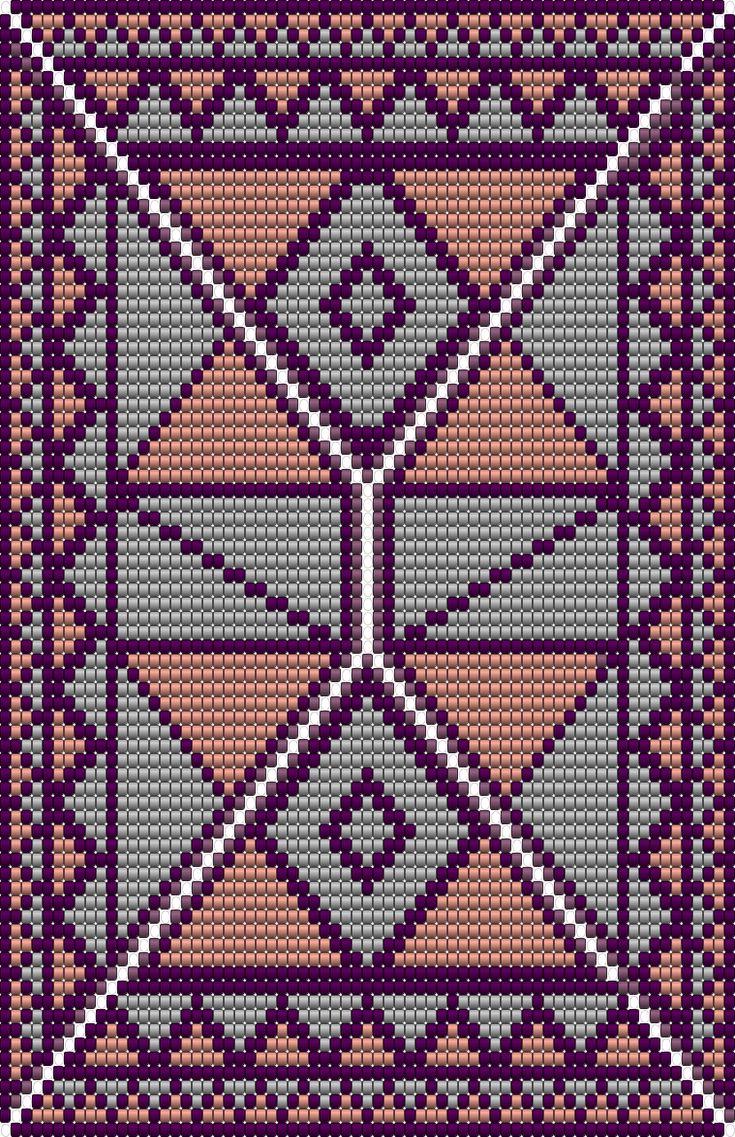 """XL  """"ruiten en driehoeken""""bodem(, ontworpen voor een mandje om de katoen in te leggen bij mochila haken?de bodem heeft 298 steken en 34 toeren, 4kleuren"""