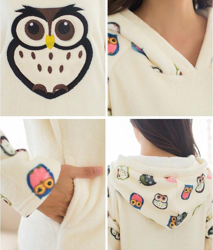 Hiver flanelle pyjamas définit Super confortable et chaud flanelle pyjamas épais robes de chambre de hibou mignon de bande dessinée , Plus la taille 2015 mode dans Pyjamas de Accessoires et vêtements pour femmes sur AliExpress.com | Alibaba Group