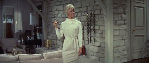 Pillow Talk_Doris Day ribbed dress front,love this dress!
