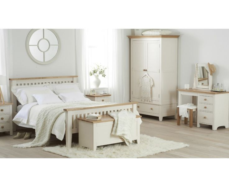 Camden Ash and Cream Single Size Bed Frame