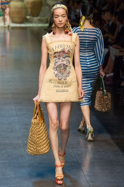 in which Dolce and Gabbana makes a burlap sack look stylish!