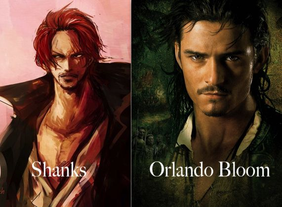 shanks as orlando bloom - One Piece