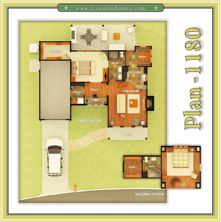 Texas Tiny Homes   Plan 1180 · Tiny Houses Floor PlansHouse ...