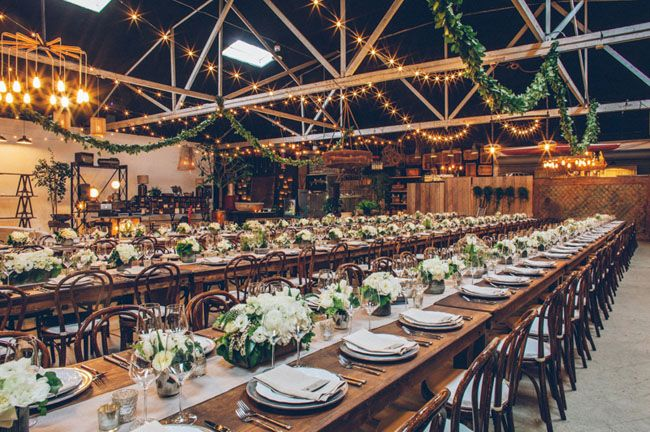 Eclectic Antique Warehouse Wedding