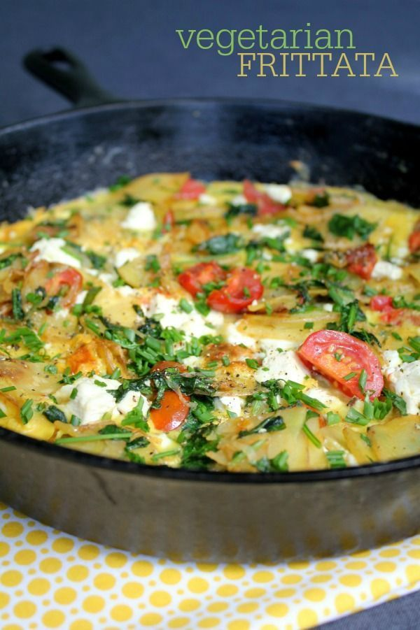 Basic Vegetarian Frittata recipe -- an easy way to enjoy seasonal vegetables for any meal!