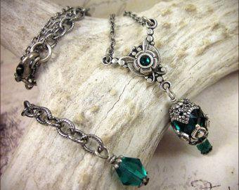 Argento orecchini di perle Swarovski vetro di RabbitwoodandReason