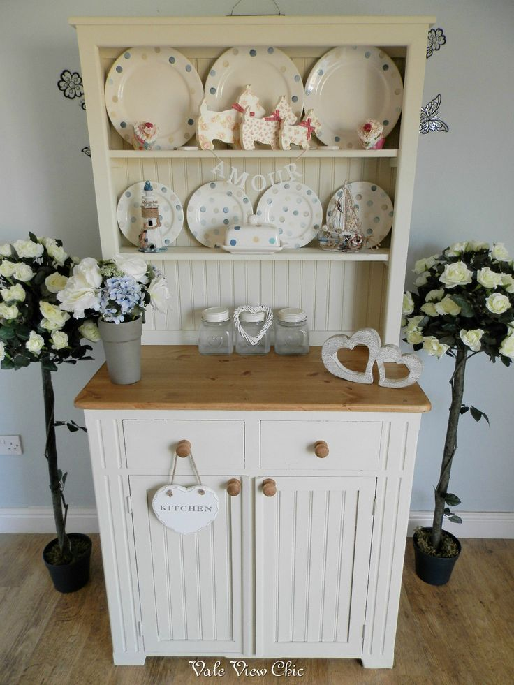 Old Vintage Cupboard Kitchen Dresser Buffet Hutch And Canisters Included Kitchenalia Pinterest