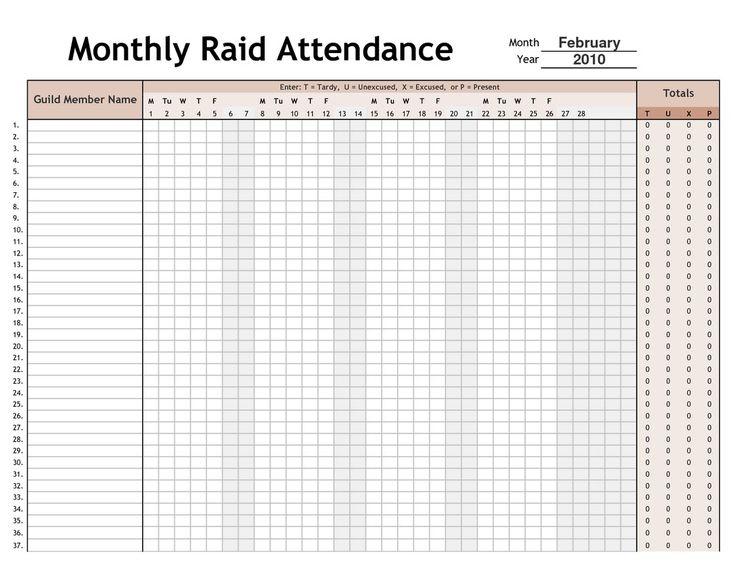 Printable 2017 Employee Attendance Calendar 4 | Calendar