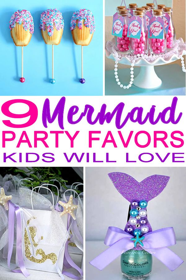 Mermaid Party Favor Ideas Mermaid Party Favors Diy