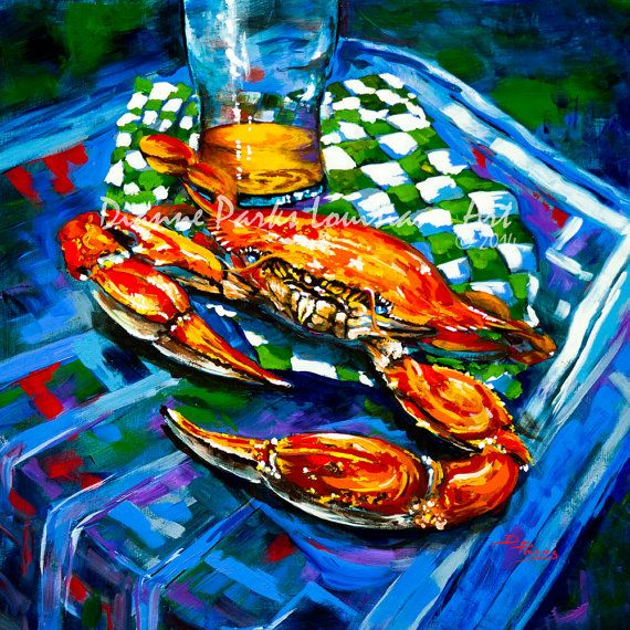 Claw Daddy - Boiled Crab, Crab Painting, Louisiana Seafood ...