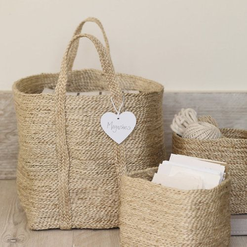 Beautiful neutral baskets. My grandmother was obsessed with baskets ... I come by it honestly.